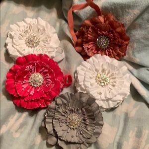 Five Tieks flowers, no boxes
